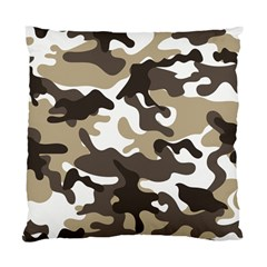 Urban White And Brown Camo Pattern Standard Cushion Case (Two Sides)