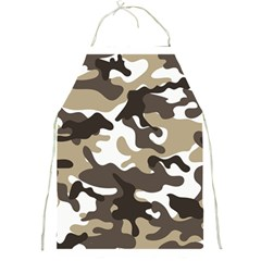 Urban White And Brown Camo Pattern Full Print Aprons