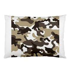 Urban White And Brown Camo Pattern Pillow Case (Two Sides)