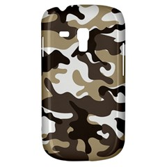 Urban White And Brown Camo Pattern Samsung Galaxy S3 MINI I8190 Hardshell Case