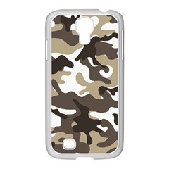 Urban White And Brown Camo Pattern Samsung GALAXY S4 I9500/ I9505 Case (White)