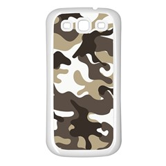 Urban White And Brown Camo Pattern Samsung Galaxy S3 Back Case (White)