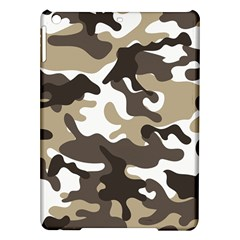 Urban White And Brown Camo Pattern iPad Air Hardshell Cases