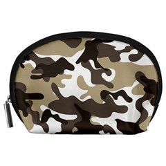 Urban White And Brown Camo Pattern Accessory Pouches (Large)
