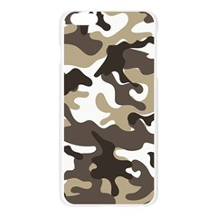 Urban White And Brown Camo Pattern Apple Seamless iPhone 6 Plus/6S Plus Case (Transparent)