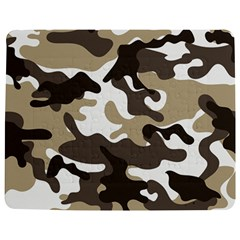 Urban White And Brown Camo Pattern Jigsaw Puzzle Photo Stand (Rectangular)