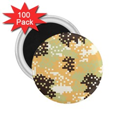 Pixel Desert Camo Pattern 2.25  Magnets (100 pack)