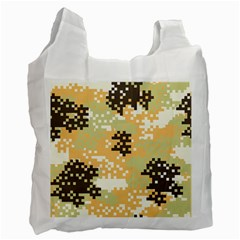 Pixel Desert Camo Pattern Recycle Bag (One Side)