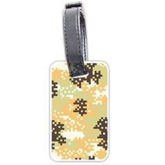 Pixel Desert Camo Pattern Luggage Tags (One Side)
