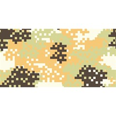 Pixel Desert Camo Pattern YOU ARE INVITED 3D Greeting Card (8x4)
