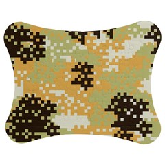 Pixel Desert Camo Pattern Jigsaw Puzzle Photo Stand (Bow)