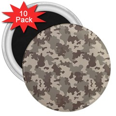 Grey Camouflage Pattern 3  Magnets (10 pack)