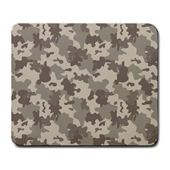Grey Camouflage Pattern Large Mousepads