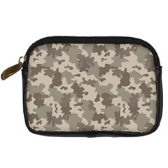 Grey Camouflage Pattern Digital Camera Cases