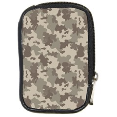 Grey Camouflage Pattern Compact Camera Cases