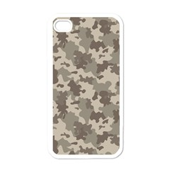 Grey Camouflage Pattern Apple iPhone 4 Case (White)