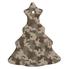 Grey Camouflage Pattern Christmas Tree Ornament (2 Sides)