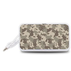 Grey Camouflage Pattern Portable Speaker (White)