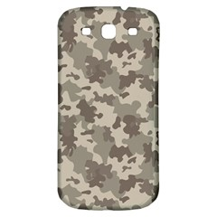 Grey Camouflage Pattern Samsung Galaxy S3 S III Classic Hardshell Back Case