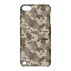 Grey Camouflage Pattern Apple iPod Touch 5 Hardshell Case with Stand