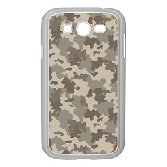 Grey Camouflage Pattern Samsung Galaxy Grand DUOS I9082 Case (White)