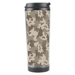 Grey Camouflage Pattern Travel Tumbler
