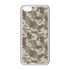 Grey Camouflage Pattern Apple iPhone 5C Seamless Case (White)