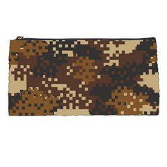 Pixel Brown Camo Pattern Pencil Cases