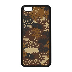 Pixel Brown Camo Pattern Apple iPhone 5C Seamless Case (Black)