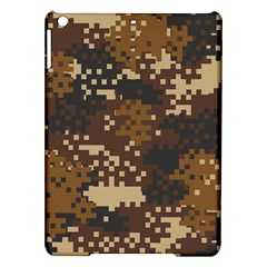 Pixel Brown Camo Pattern iPad Air Hardshell Cases