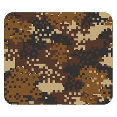 Pixel Brown Camo Pattern Double Sided Flano Blanket (Small)