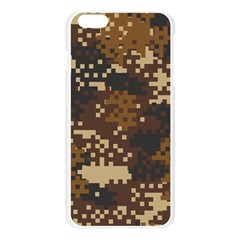 Pixel Brown Camo Pattern Apple Seamless iPhone 6 Plus/6S Plus Case (Transparent)