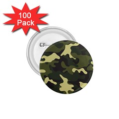 Green Camo Pattern 1.75  Buttons (100 pack)