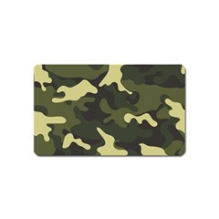 Green Camo Pattern Magnet (Name Card)