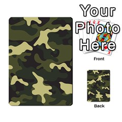 Green Camo Pattern Multi-purpose Cards (Rectangle)