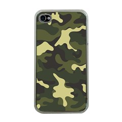 Green Camo Pattern Apple iPhone 4 Case (Clear)