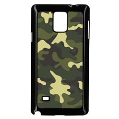 Green Camo Pattern Samsung Galaxy Note 4 Case (Black)