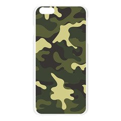 Green Camo Pattern Apple Seamless iPhone 6 Plus/6S Plus Case (Transparent)