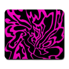 Magenta and black Large Mousepads
