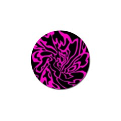 Magenta and black Golf Ball Marker (4 pack)