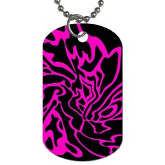 Magenta and black Dog Tag (Two Sides)