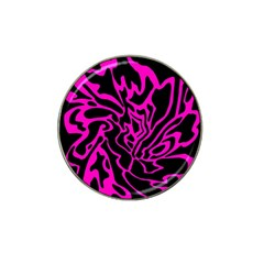 Magenta and black Hat Clip Ball Marker (4 pack)
