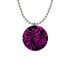 Magenta and black Button Necklaces