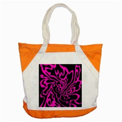 Magenta and black Accent Tote Bag