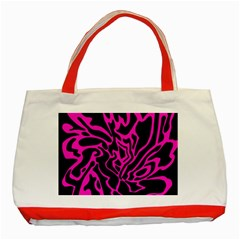 Magenta and black Classic Tote Bag (Red)