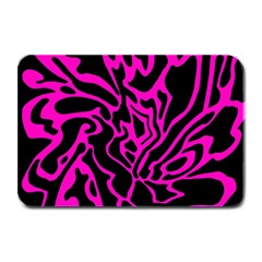 Magenta and black Plate Mats