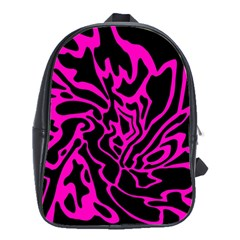 Magenta and black School Bags(Large)
