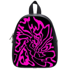 Magenta and black School Bags (Small)