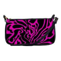 Magenta and black Shoulder Clutch Bags