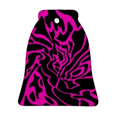 Magenta and black Bell Ornament (2 Sides)